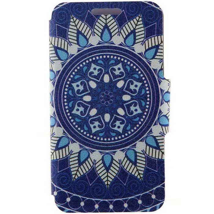 SZKINSTON® Totem Pattern PU Leather Case for iPhone 6 / 6S Plus - Blue