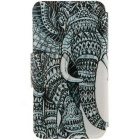 SZKINSTON Elephant Pattern PU Leather Case for iPhone 6 / 6S - White