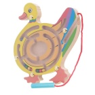 Duck Style Puzzle Magnetic Maze Walk Bead Building Block Toy - Yellow