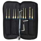 24pcs Single Hook Lock Pick Set Locksmith Tools Kit
