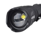 RichFire SF-168 Zoomable LED 5-Mode Branco Tactical Torch - Preto