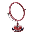 Oval Shaped Double-Sided WC Vidro Espelho - Silver + Red