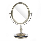 Oval Shaped Double-Sided WC Vidro Espelho - Silver + Champagne