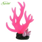 Saim E4AB-219 Aquarium Decoration Simulation Coral - Pink (14.5cm)