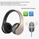 4-in-1 Multifunction Wireless Stereo Bluetooth Headset - Black + Gold