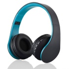 4-in-1 Multifunction Wireless Stereo Bluetooth Headset - Black + Blue