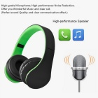 4-in-1 Multifunction Wireless Stereo Bluetooth Headset - Black + Green