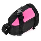 B-SOUL Outdoor Cycling Oxford Bike Zippered Saddle Bag - Preto + Rosa