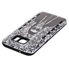 Shockproof TPU Back Case for Samsung Galaxy S7 - Black + White