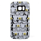 Shockproof TPU Back Case for Samsung Galaxy S7 - Black + Leopard Print
