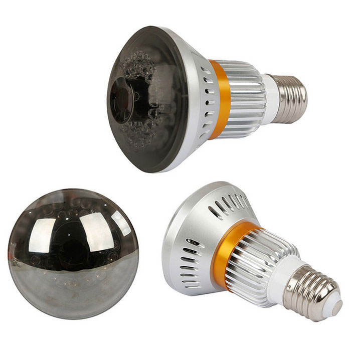 Wireless 960P Bulb Camera w/ Mirror Cover, Invisible IR ...