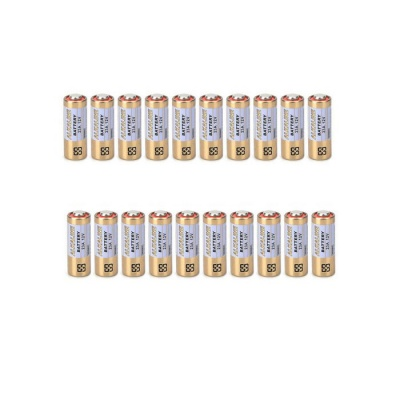 DIEWU 12V 23A Alkaline Batteries - White + Golden (20 PCS)
