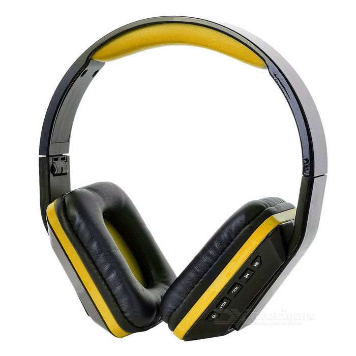 OVLENG Folding Stereo Bluetooth Headset - Black + Amarelo