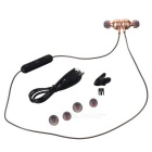 DseKai M8 Bluetooth 4.1 In-Ear Stereo Earphones w/ Mic. - Black + Gold