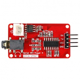 UART Serial MP3 Music Player Module w/ 3W Amplifier for Arduino - Red