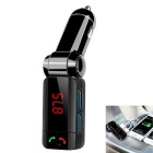 "1.1"" LCD Bluetooth V3.0 Handsfree Car FM Transmitter - Black"