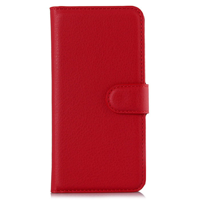 Lichee Pattern Protective Full Body Case for Huawei Mate S - Red