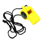 Outdoors Seek Survival 2-in-1 Plastic Compass + Whistle - Yellow