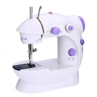 Mini Household Electric Sewing Machine - White + Purple