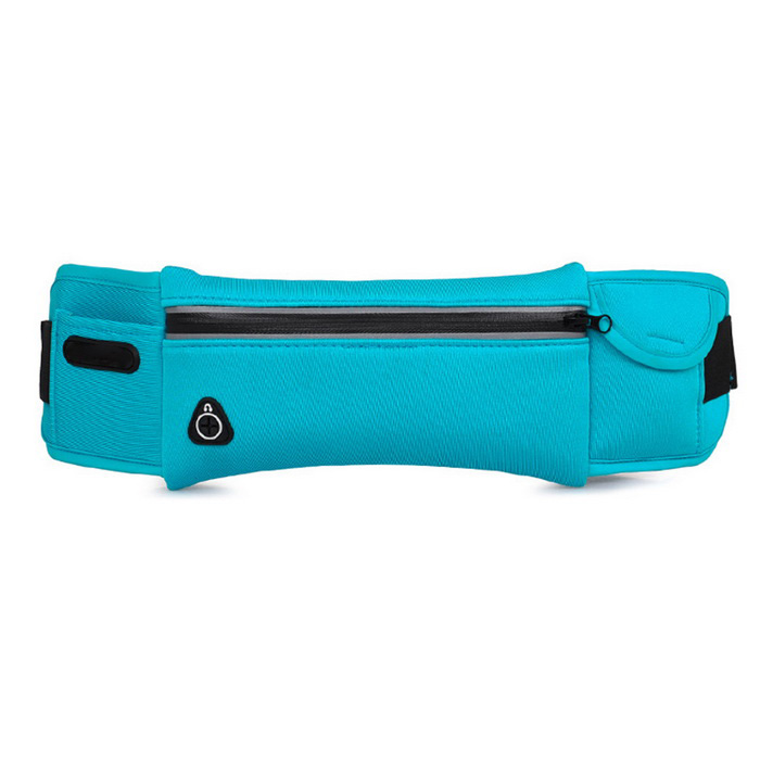 Outdoor Running Sports Chest Bag / Waistbag w/ Earphone Hole - Blue