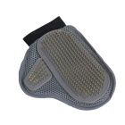Dog Cat Hair Comb Cleaning Brush Animal Bath Glove - Grey