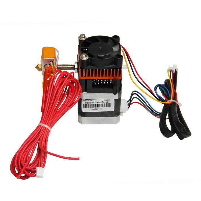 3D Printer New MK8 Extruder w/ 1.75mm Filament 0.35mm Nozzle - Black3D Printer Parts<br>Form  Colorblack+nozzle: 0.35mm Model-Quantity1 DX.PCM.Model.AttributeModel.UnitMaterialMetal + plasticEnglish Manual / SpecNoOther FeaturesExtrusion nozzle: 0.3mm,0.35m,0.4mm,0.5mm (optional); <br>Filament size: 1.75mm; <br>Type of filament: PLA, ABS, Wood-polymer, flexible PLA etc. <br>Flowrate of Nozzle: about 24cc / h; <br>Sports Shaft Speed:40mm/s; <br>Voltage of Heating Nozzle: 12V; <br>Thermistor: 100K NTC; <br>Operating Voltage of Cooling Fan: 12V; <br>Heater: 6mm, 12V, 40W; <br>Recommended Operating Temperature: 190°-230°Packing List1 * New MK8 extruder<br>