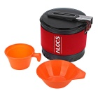 ALOCS CW-S10 1.3L Outdoor Shaped Ring Picnic Cookware - Red + Black
