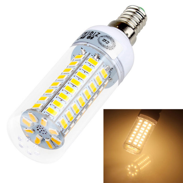 ZIQIAO YM5772 E14 8W 72-SMD LED Warm White Light Bulb Corn Lamp