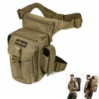 FREE SOLDIER YTB216 Outdoor Sports Hiking Nylon Waist Leg Bag - Brown