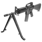 Folding Bipod Stand Mount for Sniper / Rifle / Gun - Black