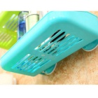 Double Suction Cups Bathroom Toilet Cosmetic Storage Rack - Azul