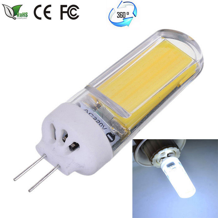 JRLED G4 Dimmable 5W 350lm COB LED Cold White Light Ceramic Bulb