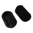 Double Leather Shoes Surface Waxing Brushing Sponge - Black