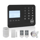 Smart GSM & PSTN Dual Network Intelligent Alarm System w/ Touch Keypad