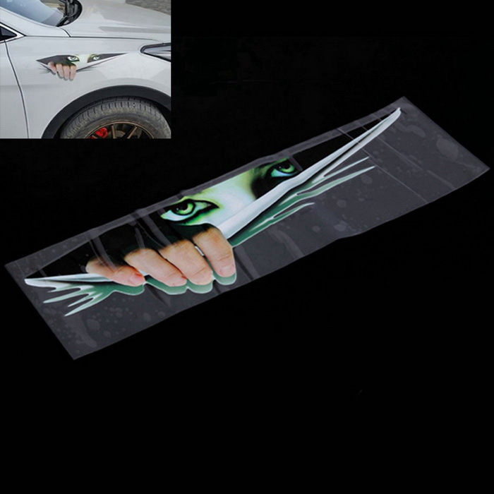 ZIQIAO 3D Eyes Titte Monster Voyeur Car Hoods Rear Window Decal