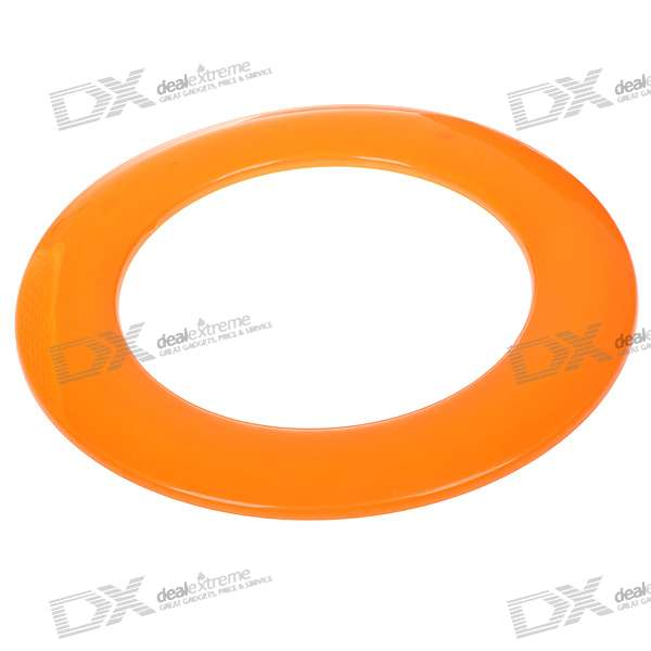 25cm Plastic Annular Frisbee for Playing - Color Assorted (10-Pack)