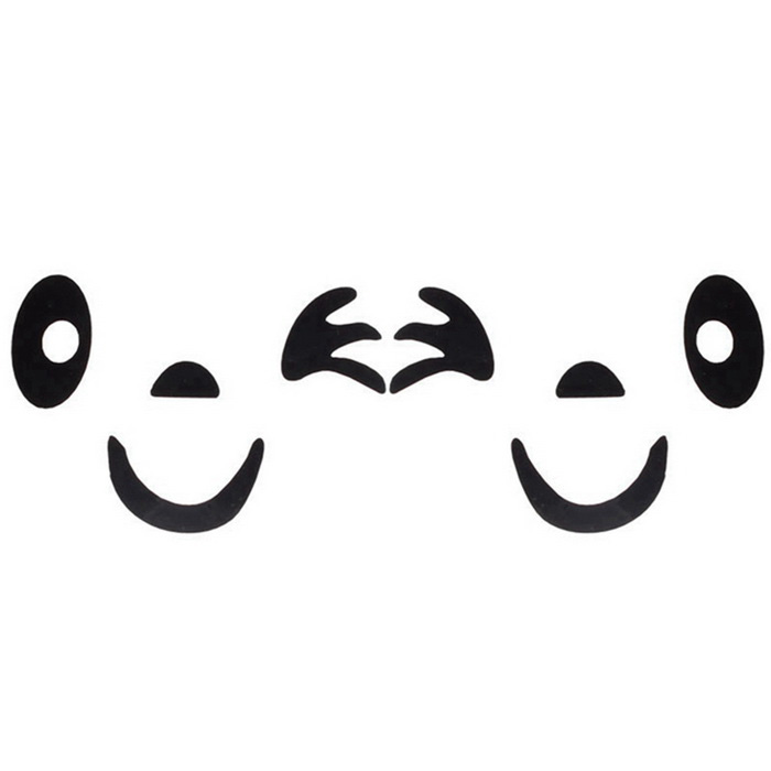 ZIQIAO Smile Face Design 3D Decoration Sticker for Car - BlackCar Stickers<br>Form  ColorBlackModelN/AQuantity1 DX.PCM.Model.AttributeModel.UnitMaterialPVCShade Of ColorBlackApplicationRearview MirrorTypePaperPacking List1 * Car decal<br>
