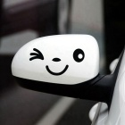 ZIQIAO Smile Face Design 3D Decoration Sticker for Car - Black