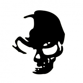 ZIQIAO Reflective Skull Car Stickers Car Decals - Silver