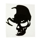 ZIQIAO Reflective Skull Styling Car Stickers Car Decals - Black