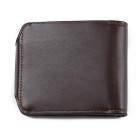 JIN BAO LAI Casual Zipper Fastener Folding Wallet for Men - Coffee