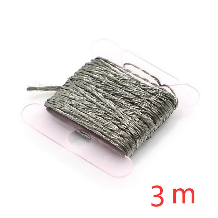 Stainless Steel Thin Conductive Sew Thread - Silver (2 ply / 3m)