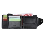 JIN BAO LAI Casual Zipper Fastener Folding Wallet for Men - Black