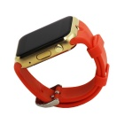 GD19 Bluetooth Smart Watch w/ Camera Screen for Android iOS - Red+Gold