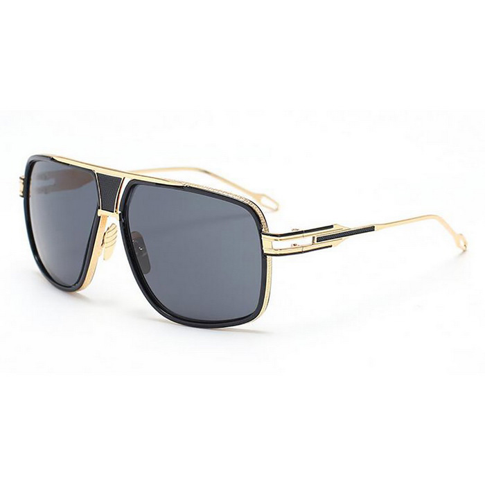 SENLAN 2271P1 UV400 Fashion Sunglasses - Black + Gold