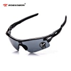 ROBESBON Authentic Super Dazzle Colour Outdoor Sports Glasses - Black