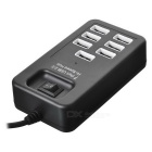 7-Port USB HUB 2.0 Hi-Speed ​​w / Switch - Preto