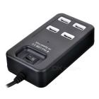 4-Port USB 2.0 Hi-Speed HUB w/ Switch - Black