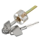 Inside Visible Cross-Shaped Practice Padlock - Translucent