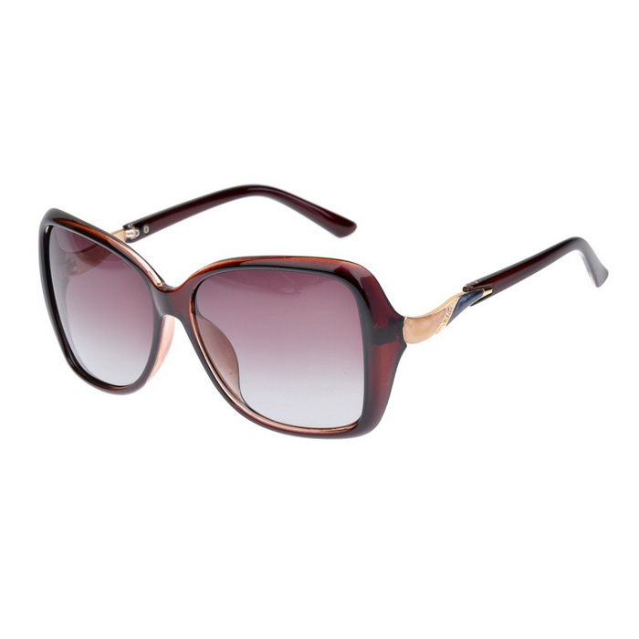 Senlan 2929C2 Women's Polarized Sunglasses - Brown + Tan
